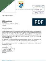 Documento Sporting Cristal