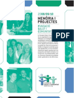 Fundació Salut i Comunitat - Memòria i Projectes 2008-2010