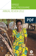 The Enterprise Development Programme Annual Review 2012