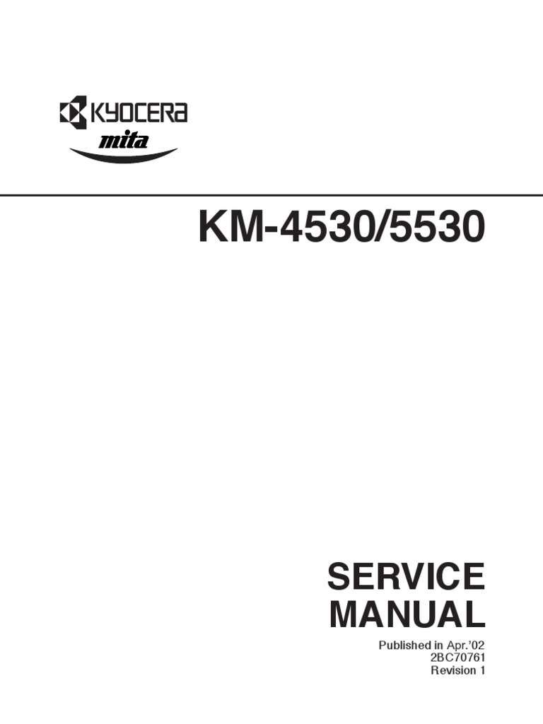 kyocera km 4530 5530 service manual parts list catalog