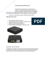 Guía de usuario para WIFI Docsis 3