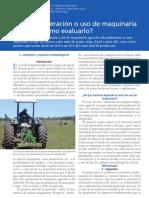 Costo de operación o uso de maquinaria agricola como evaluarla (1)