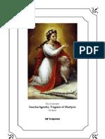 Vísperas gregorianas de Santa Inés, virgen y mártir. 21 de enero