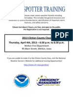 2013 Clinton County Storm Spotter Training