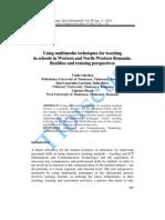 Using multimedia techniiques for teachiing in school