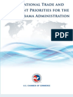 US Chamber's International Trade and Investment Priorities for 2nd Obama Administration