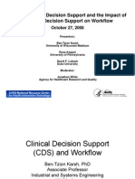 Impact of Clinical Decision Support on Workflow