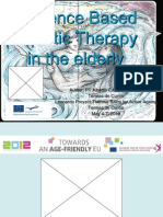 Evidence Based Aquatic Therapy in the Elderly