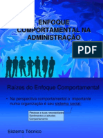 Aula 8 - Enfoque Comportamental
