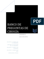 BANCO DE PREGUNTAS DE CIRUGÍA