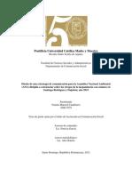 Diseño de una estrategia de comunicación para la Asamblea Nacional Ambiental (ANA) dirigida a concienciar sobre los riesgos de la megaminería con cianuro en Santiago Rodríguez y Dajabón; año 2013
