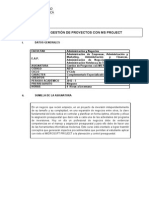 Gestion de Proyectos Con MS Project
