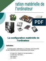Configuration matériel d'un ordinateur (le cours)