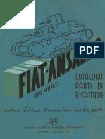 Carro Armato Fiat Ansaldo M11-39 1a Ed 1939 Motore Frizione Cambio Ponte CN
