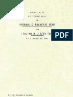 Carro Armato Fiat Ansaldo M11-39 1943 (Eng) Report 11 Appendice a STT DT