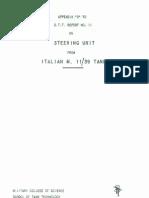 Carro Armato Fiat Ansaldo M11-39 1943 (Eng) Report 11 Appendice D STT DT