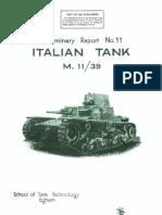 Carro Armato Fiat Ansaldo M11-39 1943 (Eng) Report 11 STT DT