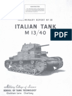 Carro Armato Fiat Ansaldo M13-40 1943 (Eng) Report 8 STT DT