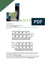 Block Stitch Pattern. 3 Versions. Charts. Diagramas