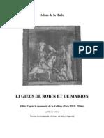 De La Halle, Adam - Le Jeu de Robin Et Marion