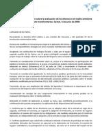 Enmienda a la convención sobre la evaluación de los efectos en el medio ambiente en un contexto transfronterizo. Cavtat, 4 de junio de 2004