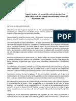 Protocolo relativo al agua y la salud a la convención sobre la protección y utilización de cursos de agua transfronterizos y lagos internacionales. London, 17 de junio de 1999