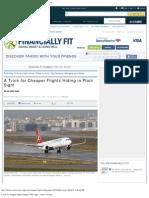 A Trick for Cheaper Flights Hiding in Plain Sight - Yahoo! Finance