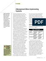 Risk Management When Implementing  ERP Systems