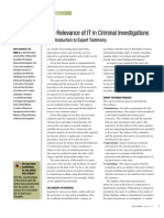 The Relevance of IT in Criminal Investigations