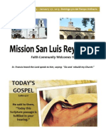 Welcome to Mission San Luis Rey Parish for January 27, 2013