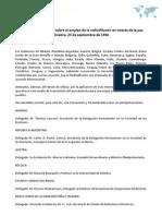 Convenio internacional sobre el empleo de la radiodifusión en interés de la paz. Ginebra, 23 de septiembre de 1936