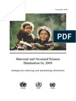 MATERNAL AND NEONATAL TETANUS
