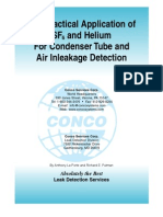 Practical Application Sf6 and Helium Condenser Tube and Air Inleakage Detection