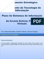 Planejamento Estratégico da livraria fictícia Papiros Virtuais