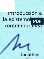 Dancy - Introduccion a La Epistemologia Contemporanea