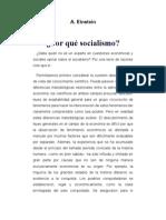 EINSTEIN Por Que Socialismo