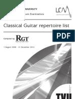 Classical Guitar Repertoire