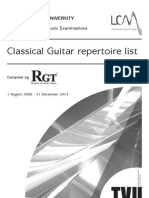 Classical Guitar Repertoire