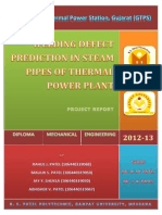 Analysis of Welding Defects in Steam Pipes