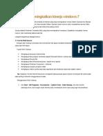 5 Langkah Meningkatkan Kinerja Windows 7