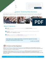 Digital Signature Act Summary from #1 Rated EchoSign.com ESignature