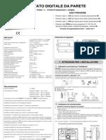 Manuale Istruzioni cronotermostato Perry DECRNN005