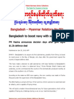 BANGLADESH - MYANMAR RELATIONS NO.001