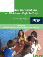IPA Global Consultations on Children's Right to Play-