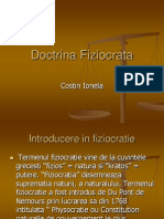 doctrina fiziocrata