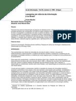 DISSIMINAÇÃO DA INFORMAÇÃO _DisseminacaoPesquisaCienciaInformacao