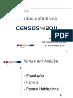 anabela delgado [ine] 2012_censos 2011, resultados definitivos [apresentação]