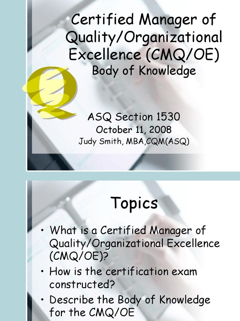 Cmqoe Strategic Planning Leadership