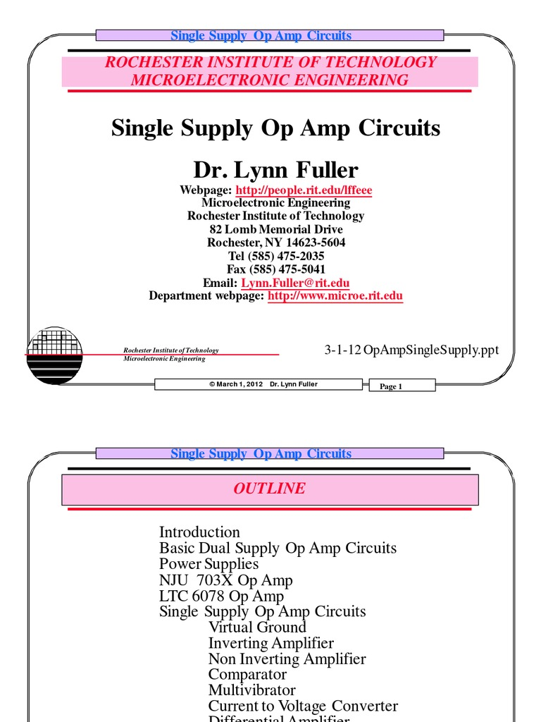 Single Supply Opamp Circuit Designing Amplifier Operational Inverting Op Amp