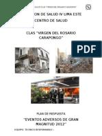 Plan Ante Un Sismo 2012